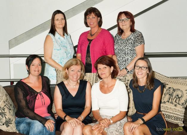 Lerndesignerinnen, Schulkoordinatorin und Fachkoordinatoren mit Frau Direktor