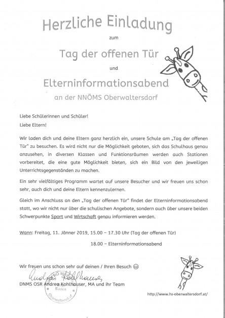 Einladung ToT