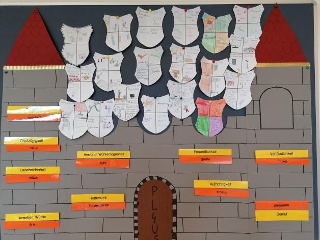 PL4US Burg mit unseren Wappen und Tugenden